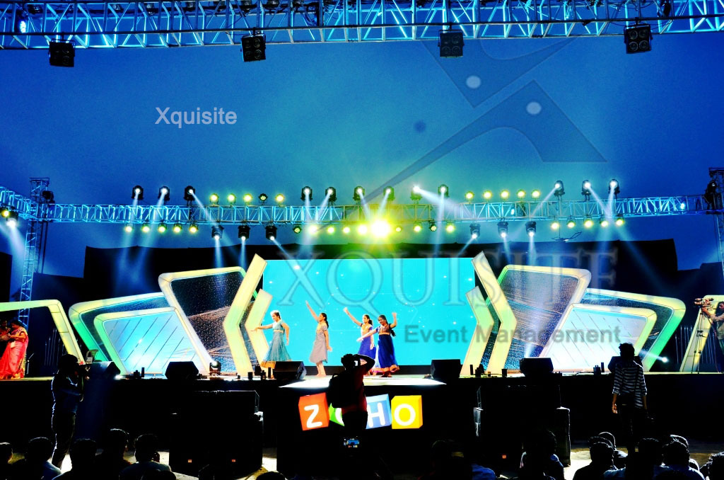 Event conducted by Xquisite Event Management in Chennai for Zoho.Stage and the complete event management is done by Xquisite.