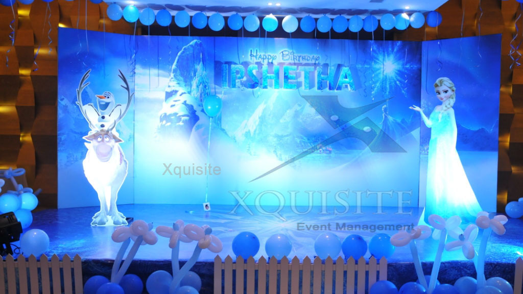 Frozen theme of one of the Events conducted by Xquisite Event Management.