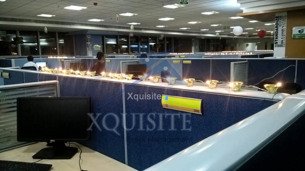 This is the photo of the Diwali Celebration Event Conducted by Xquisite Event Management in Chennai for a Corporate Company.